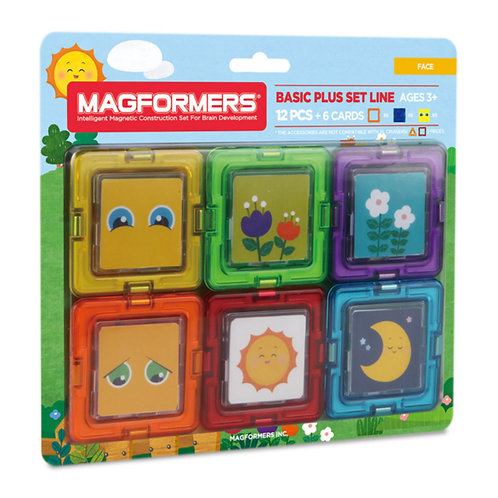 magformers toy magnetic blocks window faces