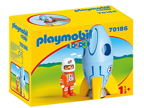 Astronaut and spaceship toy figure playmobil
