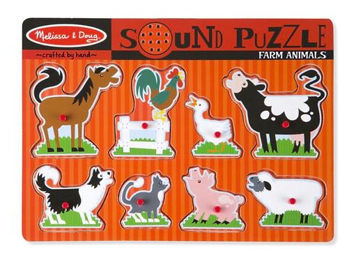 Farm peg puzzle sound red