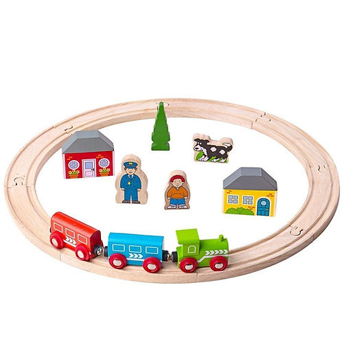 Bigjigs wooden first train set toy loop