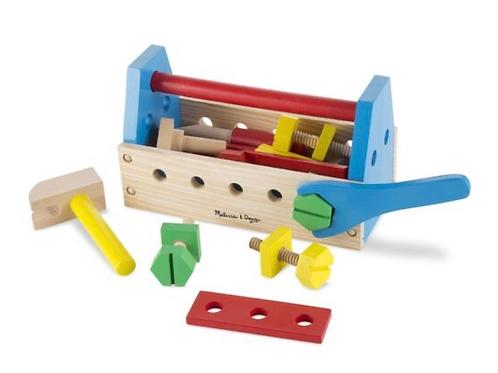 Wooden take-along tool kit