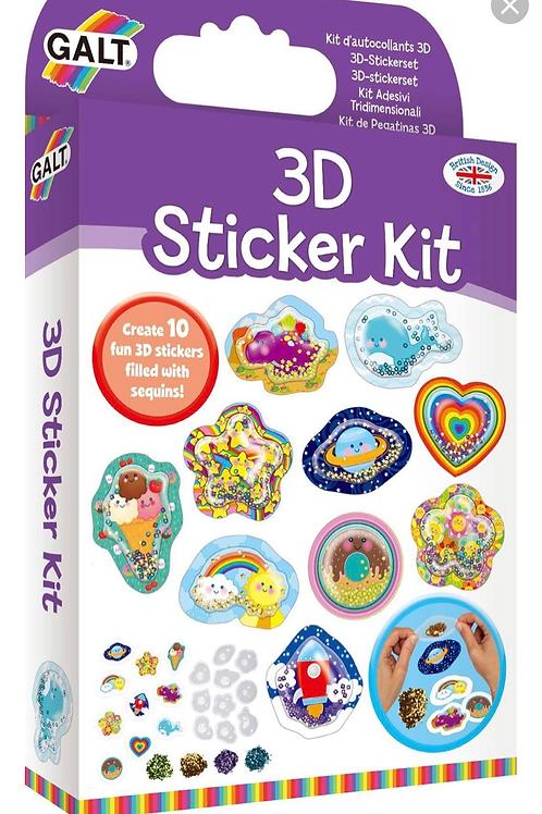 3D sticker kit galt for kids