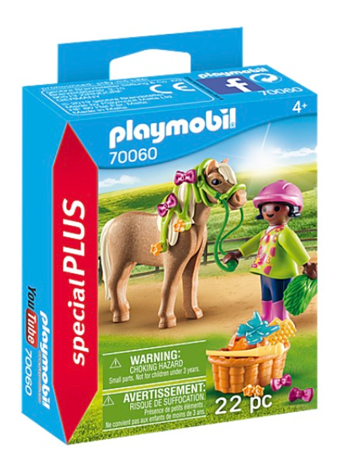 Girl with pony toy figure playmobil