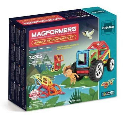 Magformers toy magnetic blocks jungle set