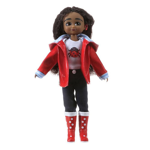 Lottie doll black girl wildlife photographer with hearing aid