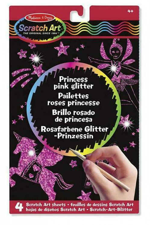 Melissa - Scratch Art princess pink glitter