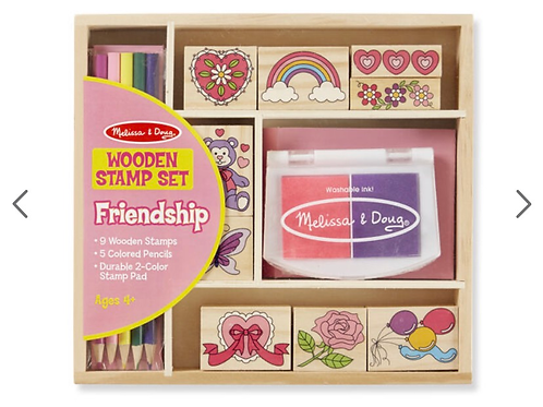 Wooden friendship stamps for kids melissa