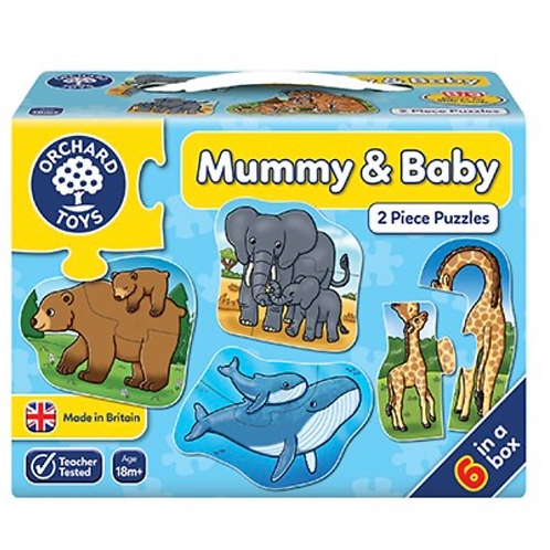 Mummy and baby blue 2 piece jigsaw orchard