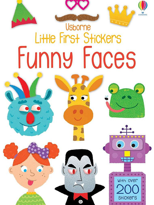 Usborne - Little first sticker book funny faces