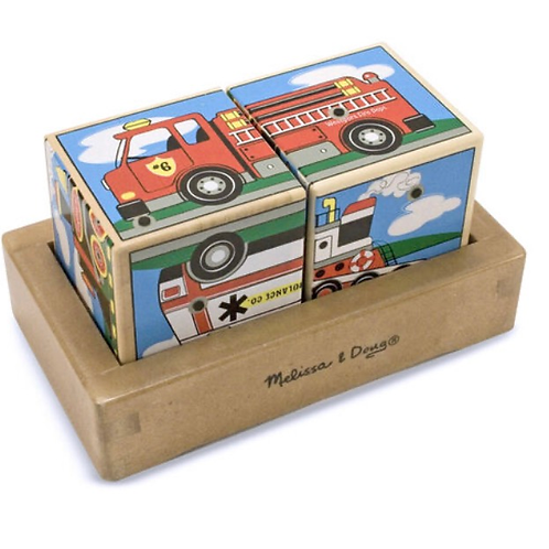 Wooden sound blocks vehicles