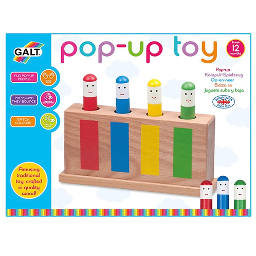 Wooden pop up toy for toddlers galt