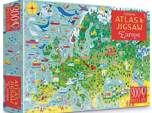 Usborne - Atlas and jigsaw europe