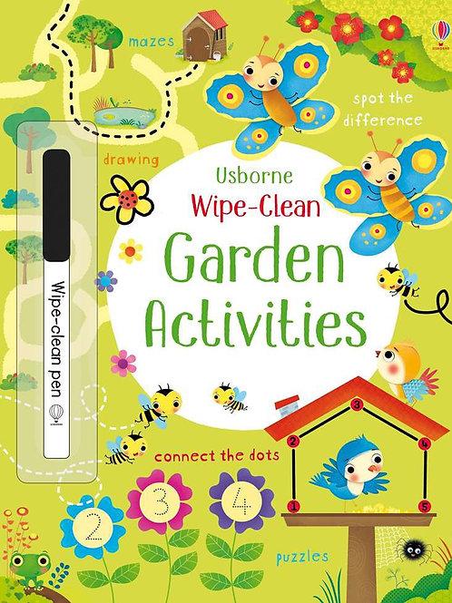 Garden wipe and clean book usborne