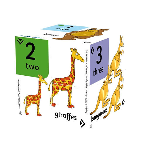 Bigjigs learning cube book numbers