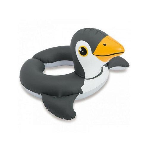 Inflatable penguin swim ring