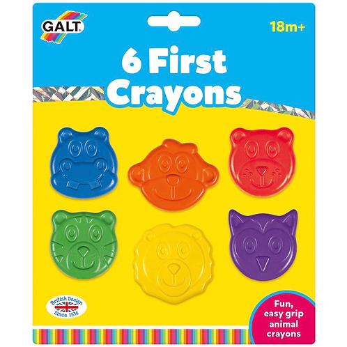 Animal shapes first crayons for kids galt