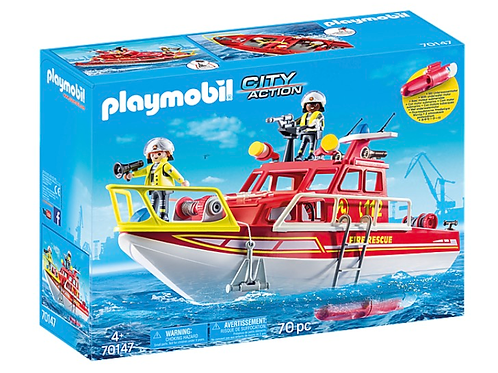 Fire rescue boat toy playmobil