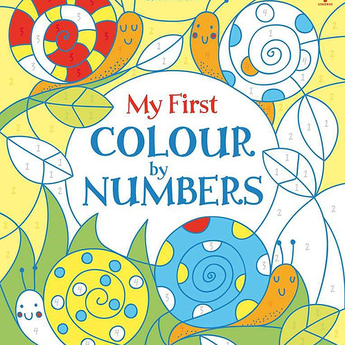 My first colour by number book usborne