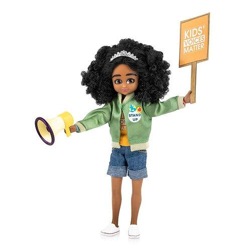 Lottie doll toy black activist protestor