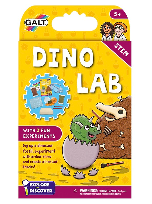 Dino science lab for kids yellow galt
