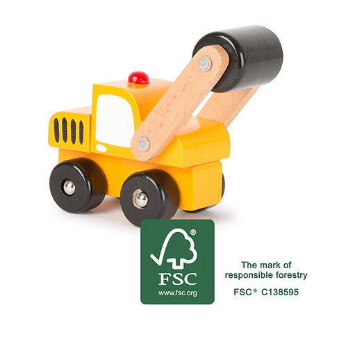 Small Foot Toys - Wooden road roller