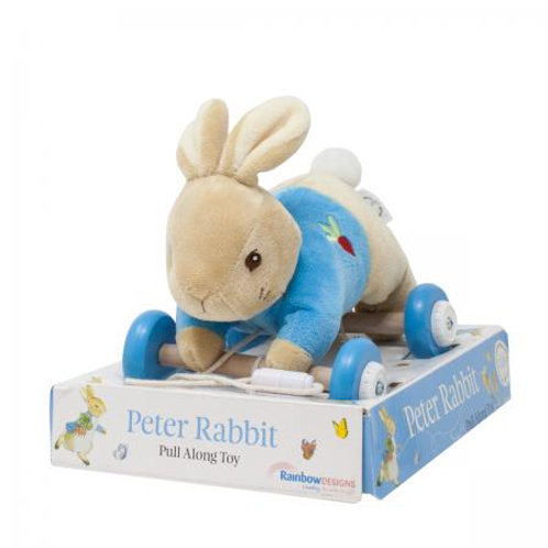 peter rabbit pull along toy wheels