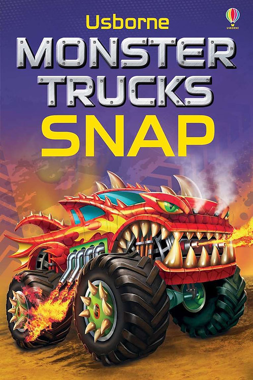 Monster cars snap cards usborne