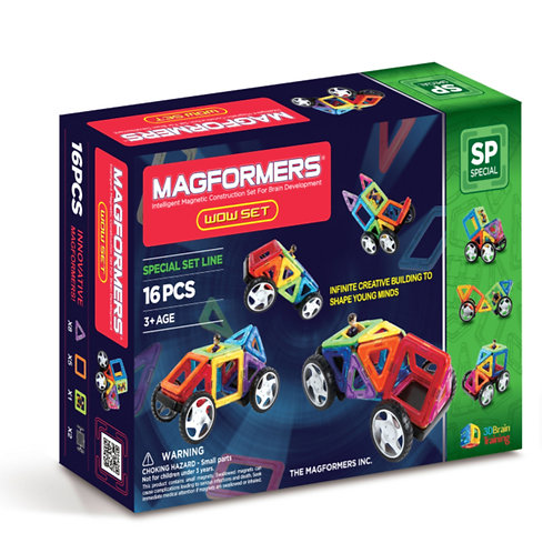 Magformers toy magnetic block car wow