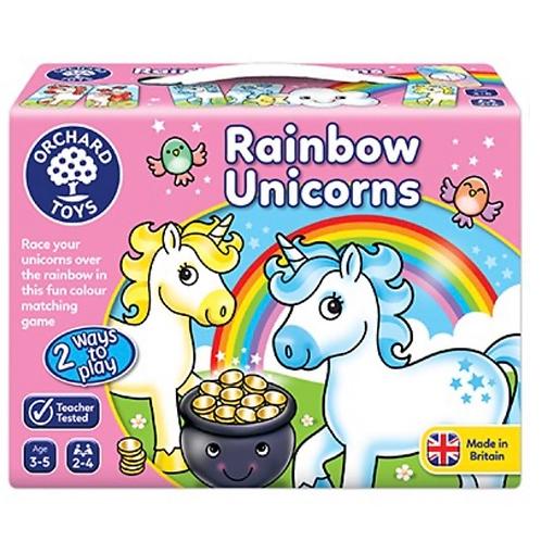 Rainbow unicorns pink game orchard