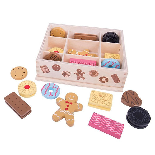 Bigjigs wooden biscuits food