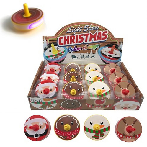 Christmas Light up Spinning Tops (each)