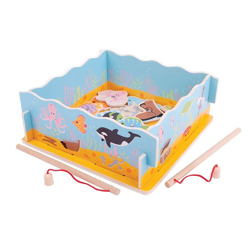 Bigjigs traditional wooden fishing game