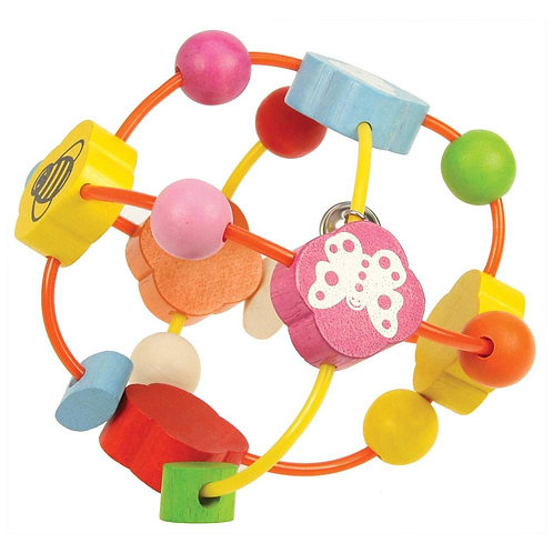 Bigjigs baby rattle wooden ball