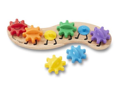 Wooden toy gears caterpillar