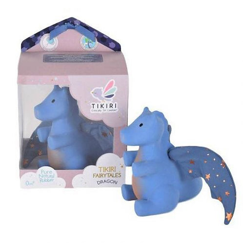 Tikiri baby natural rubber dark blue dragon