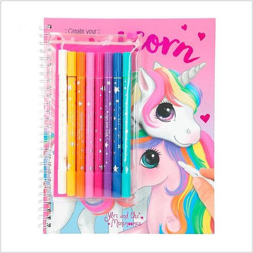 Depesche - Ylvi Colouring book with pen set