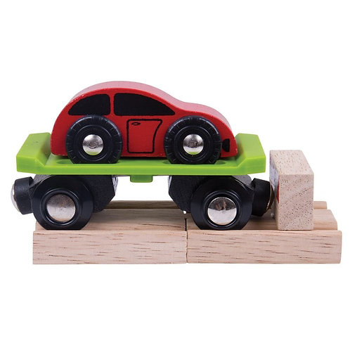 Bigjigs wooden car carriage toy