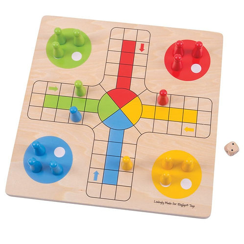 Bigjigs traditional game wooden ludo