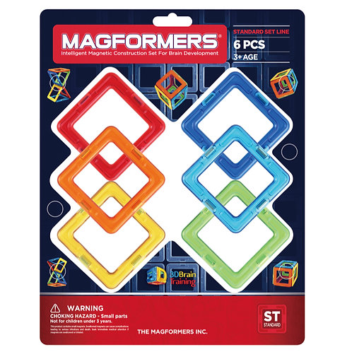 Magformers toy magnetic blocks squares