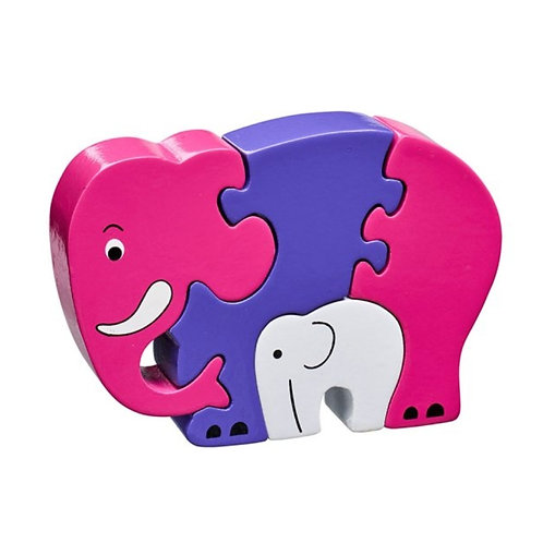Lanka kade - Pink elephant and baby jigsaw
