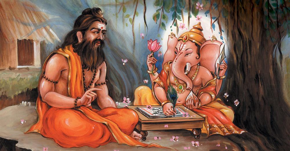 Vyasa e Ganesha