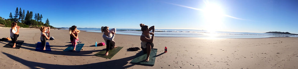 Morning Beach Yoga Byron Bay