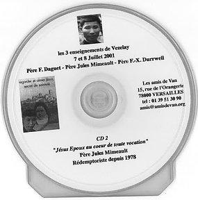 CD 2 : Jésus Époux au cœur de toute vocation