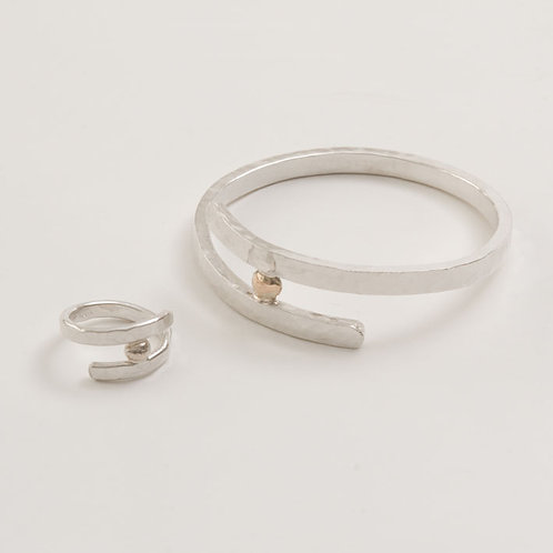 Overlap Ring and Bangle Set