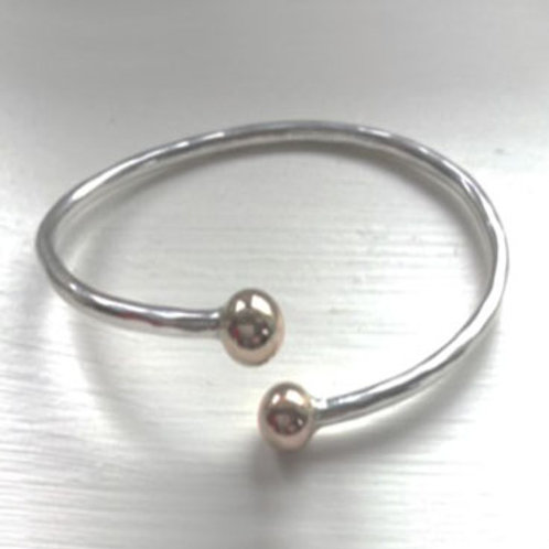 Simple Bangle with Gold Finials