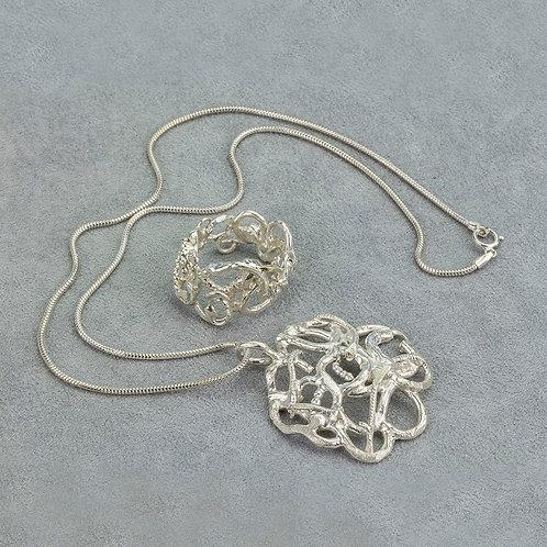 Random Ring , Earrings & Pendant Set