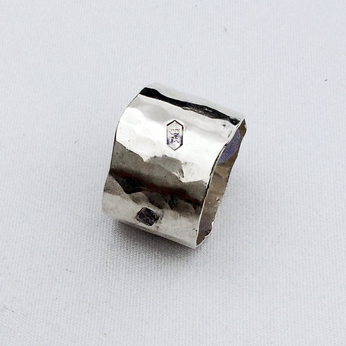 Broad Lightly Beaten Ring
