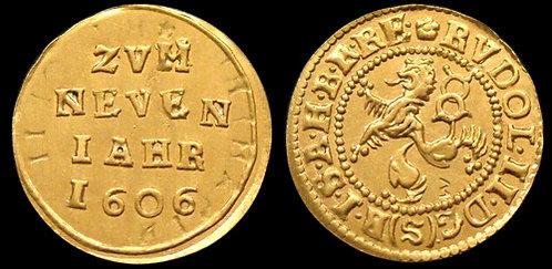 Rudolf II Small Groschen Bohemia 1576-1611 fine gold replica coin