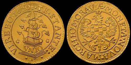 Moravian evangelical Estates 5 Ducat Moravia Olomouc 1620-1621 fine gold replica