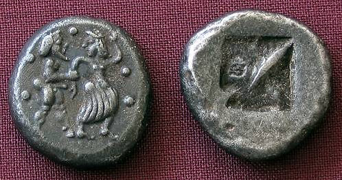 Lete Stater Greece 540-480 BC fine silver replica coin